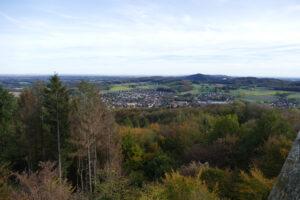 Blick auf Borgholzhausen vom Luisenturm