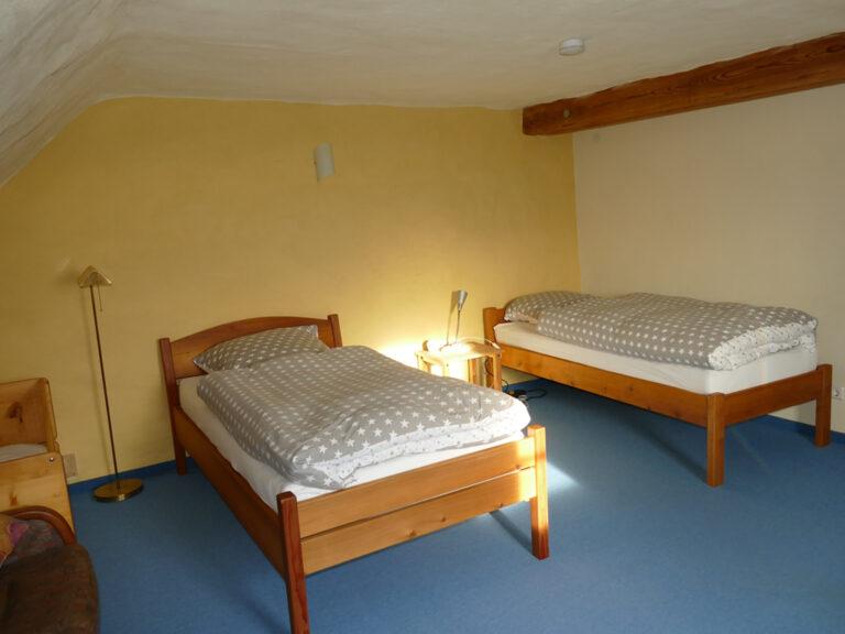 Schlafzimmer auf oberer Ebene